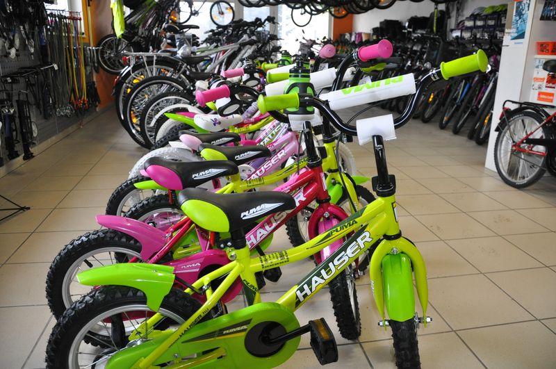 gyerek kerékpárok különböző méretben